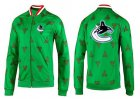Cheap NHL Vancouver Canucks Zip Jackets Green-2