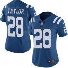 Cheap Nike Colts #28 Jonathan Taylor Royal Blue Women's Stitched NFL Limited Rush Jersey