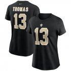 Cheap New Orleans Saints #13 Michael Thomas Nike Women's Team Player Name & Number T-Shirt Black