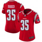 Cheap Nike Patriots #35 Kyle Dugger Red Women's Stitched NFL Limited Inverted Legend Jersey