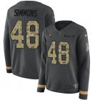 Cheap Nike Cardinals #48 Isaiah Simmons Anthracite Salute to Service Women's Stitched NFL Limited Therma Long Sleeve Jersey