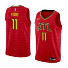 Cheap Men's Nba Atlanta Hawks #11 Trae Young Red Nike Statement Edition Jersey