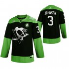 Cheap Pittsburgh Penguins #3 Jack Johnson Men's Adidas Green Hockey Fight nCoV Limited NHL Jersey
