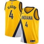 Cheap Pacers #4 Victor Oladipo Gold Basketball Swingman Statement Edition 2019-2020 Jersey