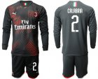 Cheap AC Milan #2 Calabria Third Long Sleeves Soccer Club Jersey