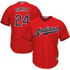 Cheap Indians #24 Manny Ramirez Red Stitched Youth MLB Jersey