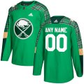Cheap Men's Adidas Buffalo Sabres Personalized Green St. Patrick's Day Custom Practice NHL Jersey