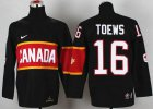 Cheap Team Canada 2014 Olympic #16 Jonathan Toews Black Stitched Youth NHL Jersey