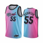 Cheap Nike Heat #55 Duncan Robinson Blue Pink NBA Swingman 2020-21 City Edition Jersey
