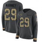 Cheap Nike Giants #29 Xavier McKinney Anthracite Salute to Service Women's Stitched NFL Limited Therma Long Sleeve Jersey
