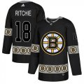 Cheap Adidas Bruins #18 Brett Ritchie Black Authentic Team Logo Fashion Stitched NHL Jersey