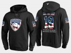 Cheap Panthers #19 Mike Matheson NHL Banner Wave Usa Flag Black Hoodie