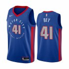 Cheap Nike Pistons #41 Saddiq Bey Blue NBA Swingman 2020-21 City Edition Jersey