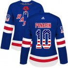 Cheap Adidas Rangers #10 Artemi Panarin Royal Blue Home Authentic USA Flag Women's Stitched NHL Jersey