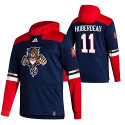 Cheap Florida Panthers #11 Jonathan Huberdeau Adidas Reverse Retro Pullover Hoodie Navy