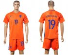 Cheap Holland #19 Huntelaar Home Soccer Country Jersey