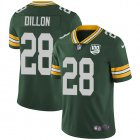 Cheap Nike Packers #28 AJ Dillon Green Team Color Youth 100th Season Stitched NFL Vapor Untouchable Limited Jersey