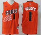 Cheap Men's Phoenix Suns #1 Devin Booker Orange Stitched NBA adidas Revolution 30 Swingman Jersey
