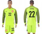 Cheap Holland #22 Vorm Green Long Sleeves Goalkeeper Soccer Country Jersey