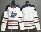 Cheap Adidas Oilers Blank White Road Authentic Stitched Youth NHL Jersey