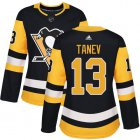 Cheap Adidas Penguins #13 Brandon Tanev Black Home Authentic Women's Stitched NHL Jersey