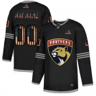 Cheap Florida Panthers Custom Adidas Men's Black USA Flag Limited NHL Jersey