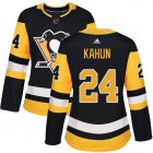 Cheap Adidas Penguins #24 Dominik Kahun Black Home Authentic Women's Stitched NHL Jersey