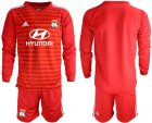Cheap Lyon Blank Red Goalkeeper Long Sleeves Soccer Club Jersey