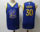 Cheap Youth Golden State Warriors #30 Stephen Curry Blue 2020 Nike Swingman NEW Rakuten Logo Stitched NBA Jersey