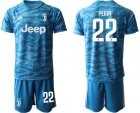 Cheap Juventus #22 Perin Light Blue Soccer Club Jersey