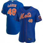 Cheap New York Mets #48 Jacob deGrom Men's Nike Royal Alternate 2020 Authentic Player MLB Jersey