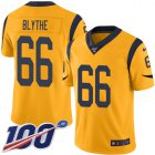 Cheap Nike Rams #66 Austin Blythe Gold Men's Stitched NFL Limited Rush 100th Season Jersey