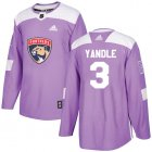 Cheap Adidas Panthers #3 Keith Yandle Purple Authentic Fights Cancer Stitched Youth NHL Jersey