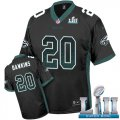 Cheap Nike Eagles #20 Brian Dawkins Black Alternate Super Bowl LII Men's Stitched NFL Elite Drift Fashion Jersey