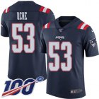 Cheap Nike Patriots #53 Josh Uche Navy Blue Youth Stitched NFL Limited Rush 100th Season Jersey