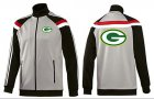 Cheap NFL Green Bay Packers Team Logo Jacket Grey
