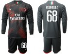 Cheap AC Milan #68 Rodriguez Third Long Sleeves Soccer Club Jersey
