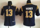 Cheap Nike Rams #13 Kurt Warner Navy Blue Team Color Youth Stitched NFL Elite Jersey
