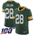 Cheap Nike Packers #28 AJ Dillon Green Team Color Youth Stitched NFL 100th Season Vapor Untouchable Limited Jersey