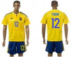 Cheap Ukraine #12 Pyatov Home Soccer Country Jersey