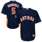 Cheap Astros #5 Jeff Bagwell Navy Blue Cool Base 2019 World Series Bound Stitched Youth MLB Jersey