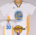 Cheap Men's Golden State Warriors #30 Stephen Curry White Short-Sleeved 2016 The NBA Finals Patch Jersey
