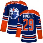 Cheap Adidas Oilers #29 Leon Draisaitl Royal Alternate Authentic Stitched Youth NHL Jersey