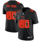 Cheap Cleveland Browns Custom Men's Nike Team Logo Dual Overlap Limited NFL Jersey Black