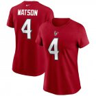 Cheap Houston Texans #4 Deshaun Watson Nike Women's Team Player Name & Number T-Shirt Red