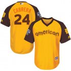 Cheap Tigers #24 Miguel Cabrera Gold 2016 All-Star American League Stitched Youth MLB Jersey