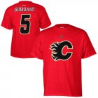 Cheap Calgary Flames #5 Mark Giordano Reebok Name and Number Player T-Shirt Red