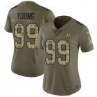 Cheap Nike Redskins #99 Chase Young Olive/Camo Women's Stitched NFL Limited 2017 Salute To Service Jersey
