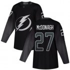 Cheap Adidas Lightning #27 Ryan McDonagh Black Alternate Authentic Stitched NHL Jersey