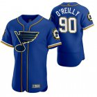 Cheap St. Louis Blues #90 Ryan O'Reilly Men's 2020 NHL x MLB Crossover Edition Baseball Jersey Blue